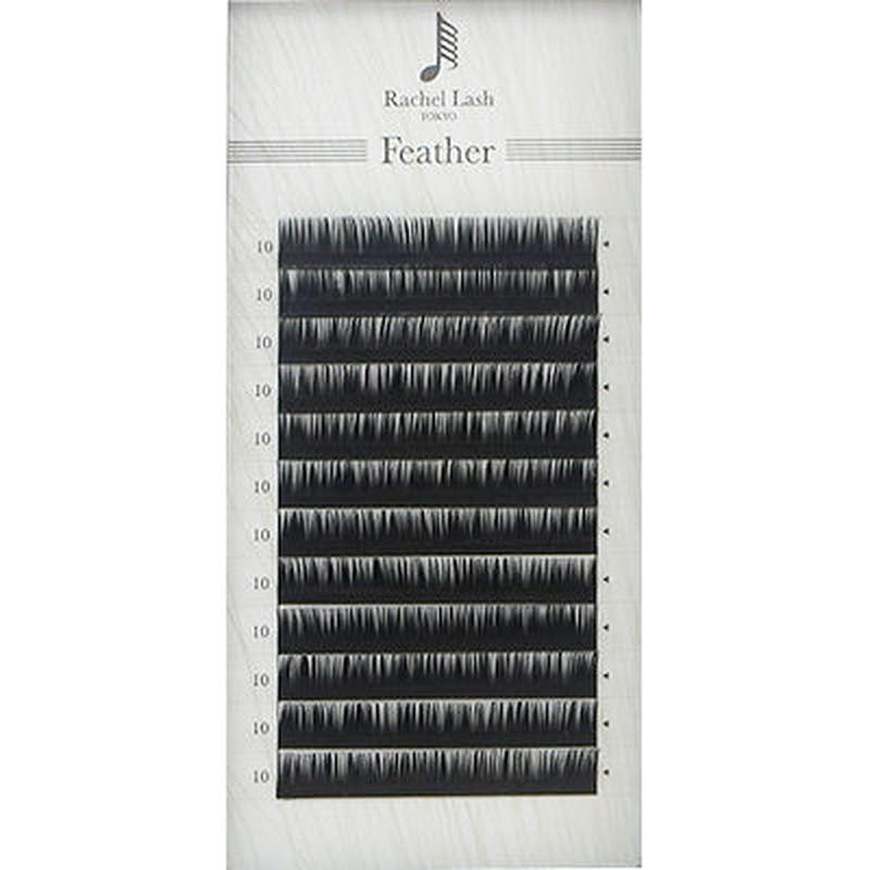 Jet Black Feather Lash D-curl Thickness 0.06mm