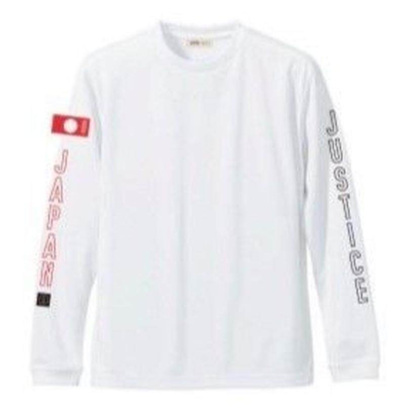 2019 NEW MODEL【JUSTICE】LONG SLEEVE 4.7oz DRY-TEE  color : White