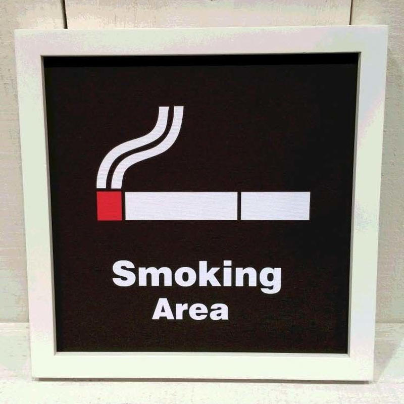 【Sign Frame】Smoking Area