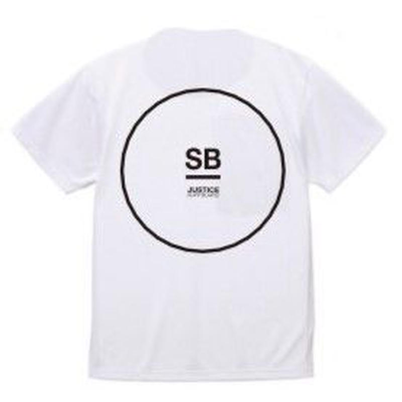2019 NEW MODEL【JUSTICE】CIRCLE LOGO 6.5oz DRY-TEE  color : White