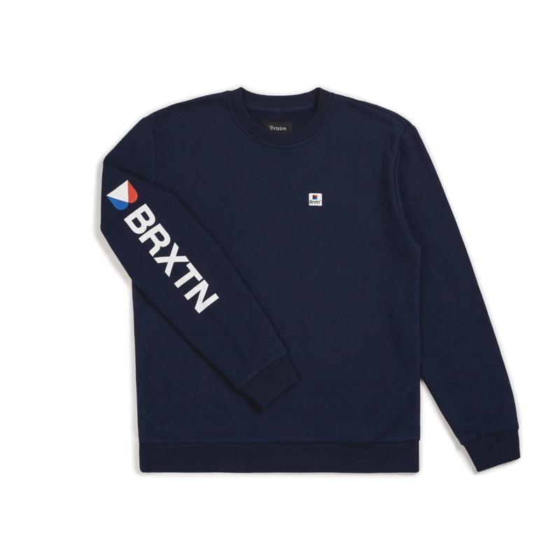 2018秋冬モデル ブリクストン【BRIXTON】STOWELL II CREW FLEECE   color : Navy