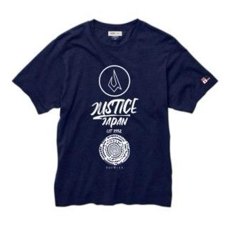 2019 NEW MODEL【JUSTICE】ICON LOGO 5.3oz INDIGO-TEE  color : Indigo-White