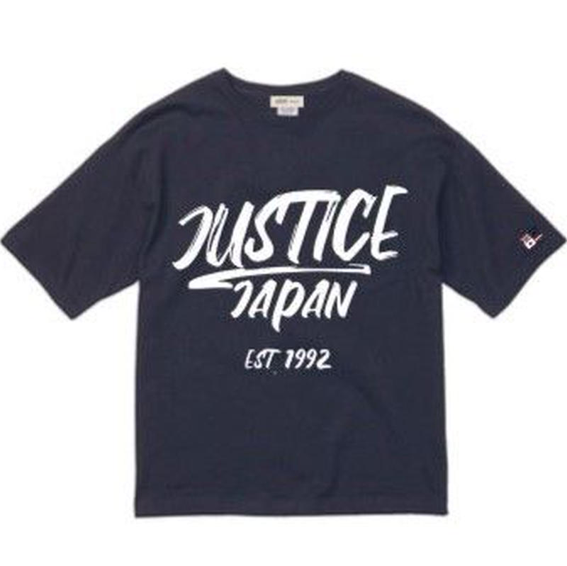 2019 NEW MODEL【JUSTICE】JAPAN LOGO 5.6oz DROP-TEE  color : Navy