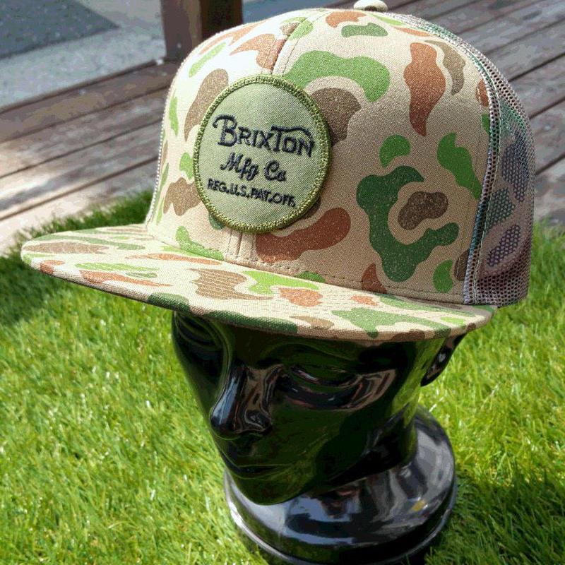 2018 CAP/HAT祭り!【BRIXTON】WHEELER MESHCAP   color:Brown/Camo