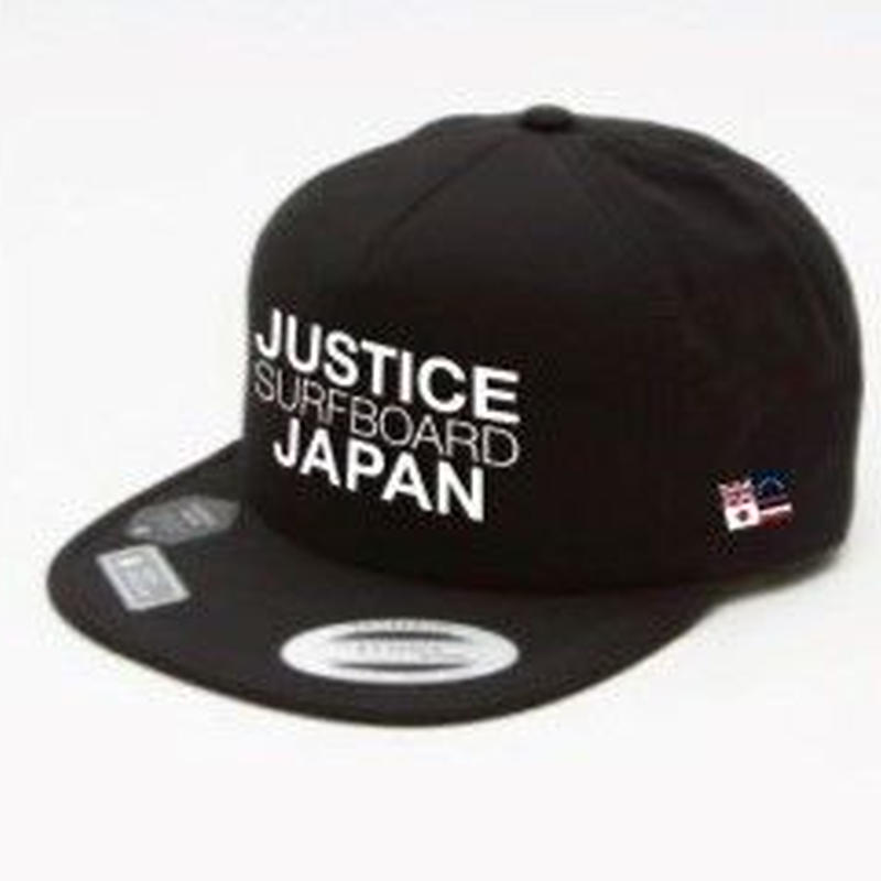2019 NEW MODEL【JUSTICE】JAPAN LOGO FLEXFIT CAP    color : Black x White