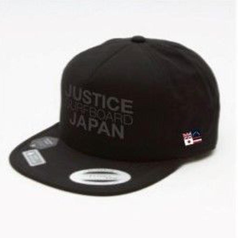 2019 NEW MODEL【JUSTICE】JAPAN LOGO FLEXFIT CAP    color : Black x Black