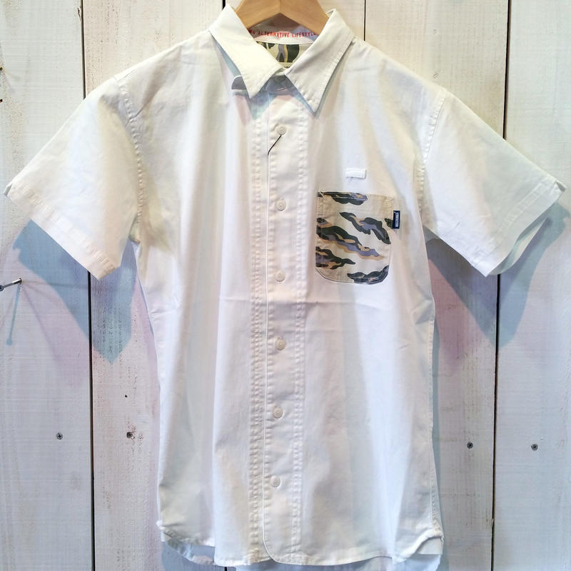 【MAGIC NUMBER】Stretch Twill Island Camo Pocket Shirt