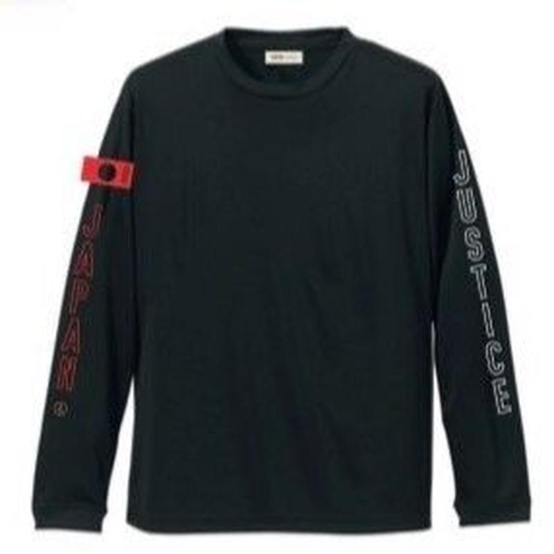 2019 NEW MODEL【JUSTICE】LONG SLEEVE 4.7oz DRY-TEE  color : Black