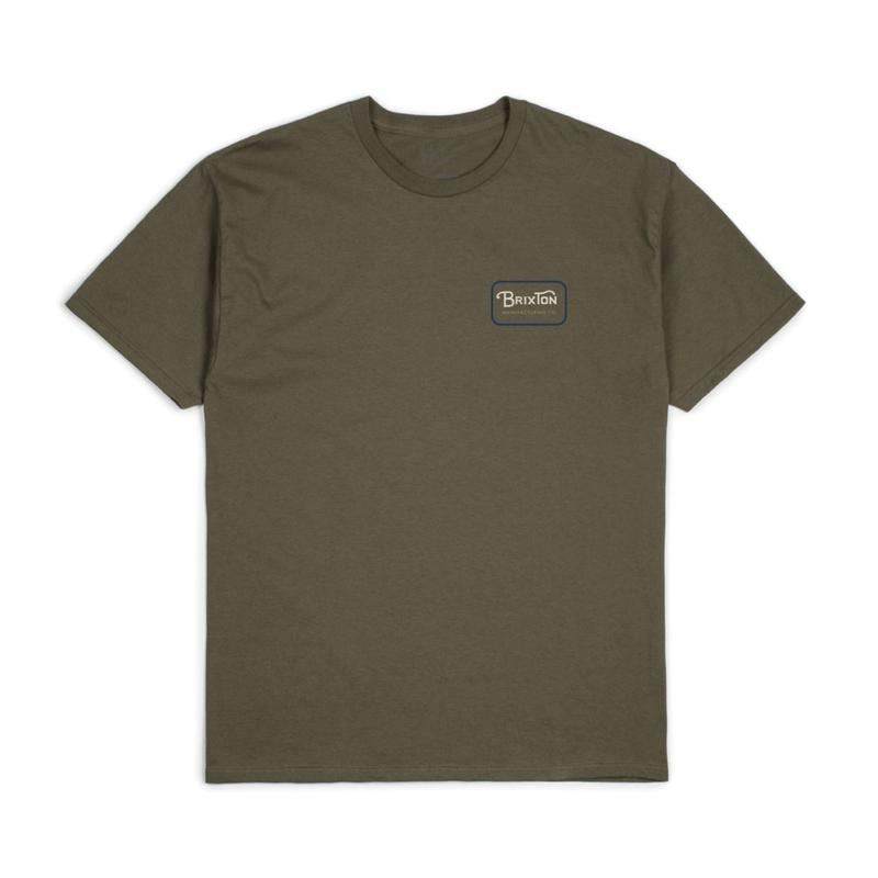 2019spring model  ブリクストン【BRIXTON】GRADE S/S STANDARD TEE  color : OLIVE NAVY