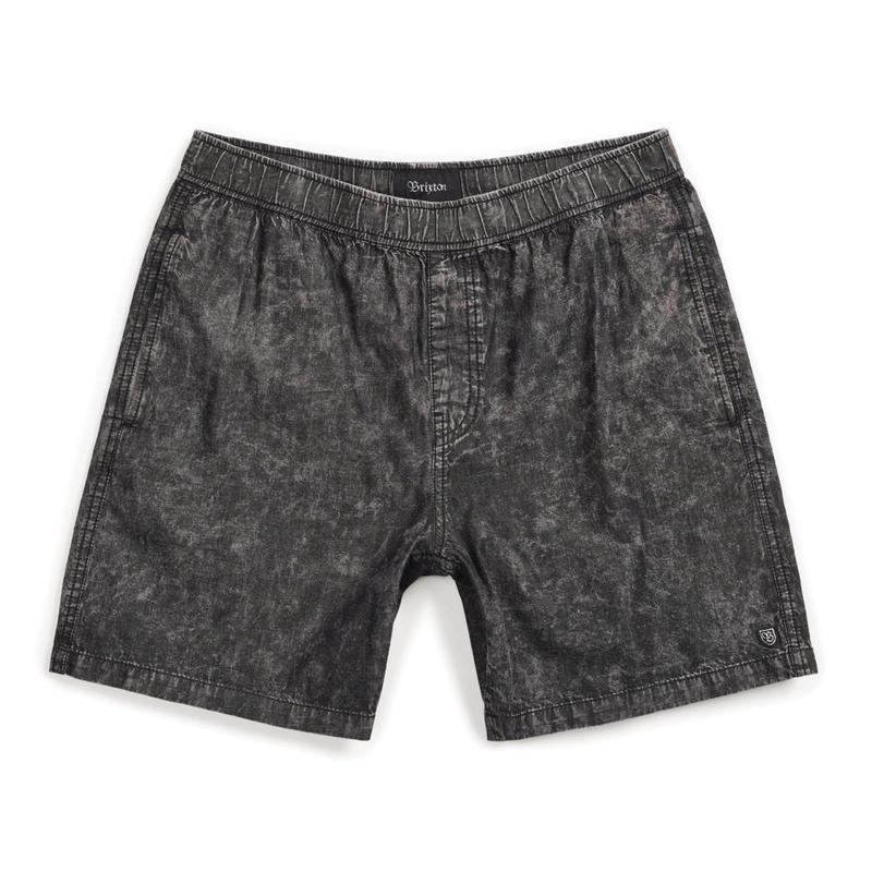 2019spring model  ブリクストン【BRIXTON】STEADY SHORT  color : BLACK ACID WASH