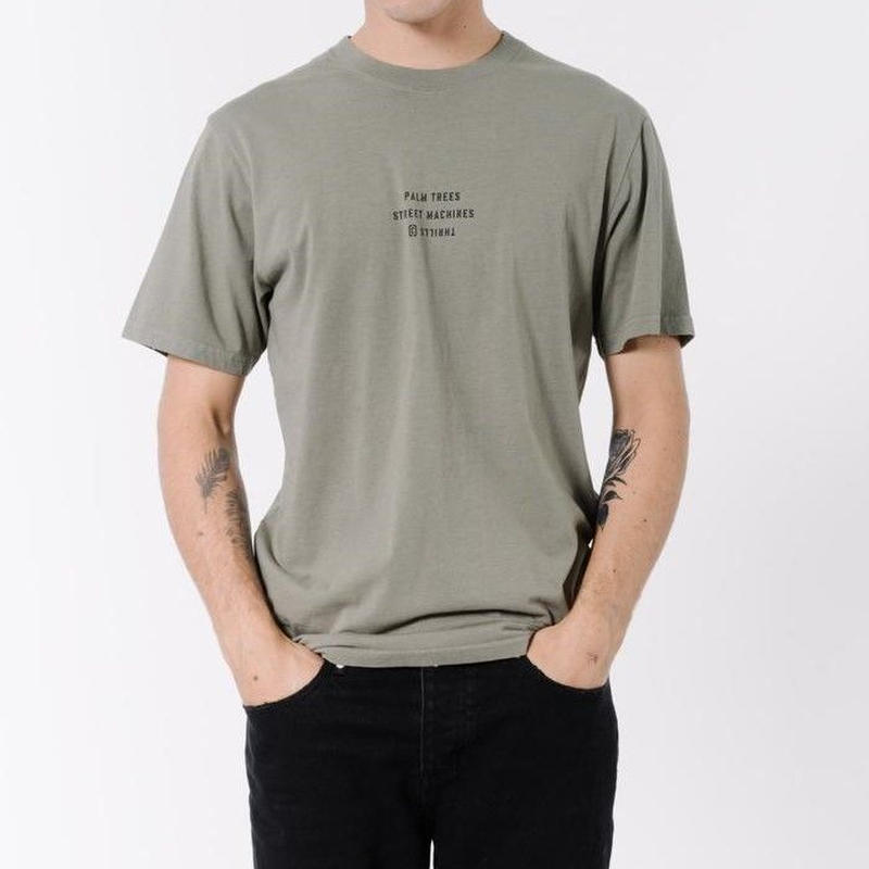 NEW MODEL スリルス【THRILLS】Surplus Tee   color : Army Green