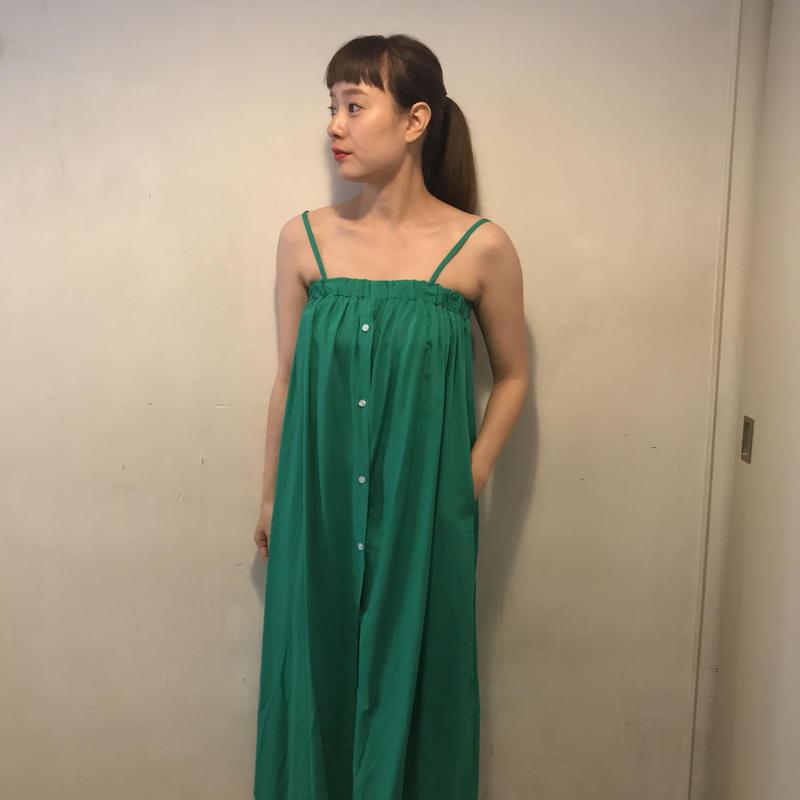 フロントボタンキャミワンピ/green