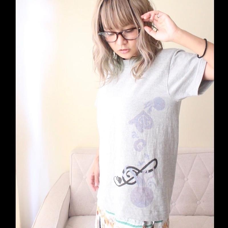 Blue Jelly Fish Tシャツ(グレー)