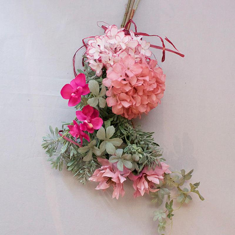 ART FLOWER SWAG -Pink-