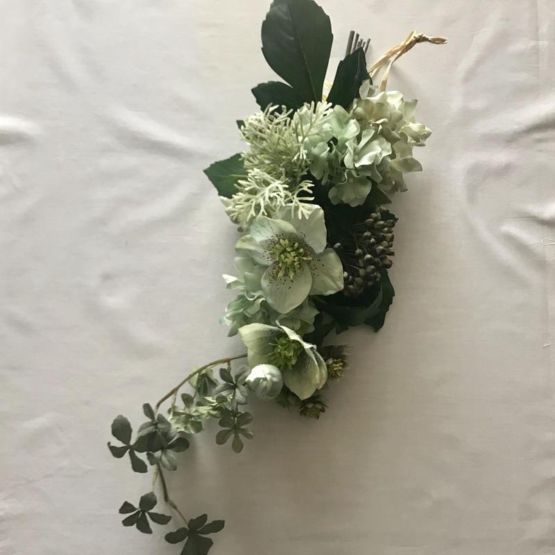 ART FLOWER SWAG   -MINT-