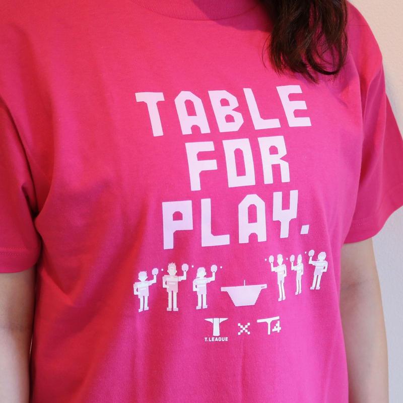 T.LEAGUE × T4 レディースTシャツ