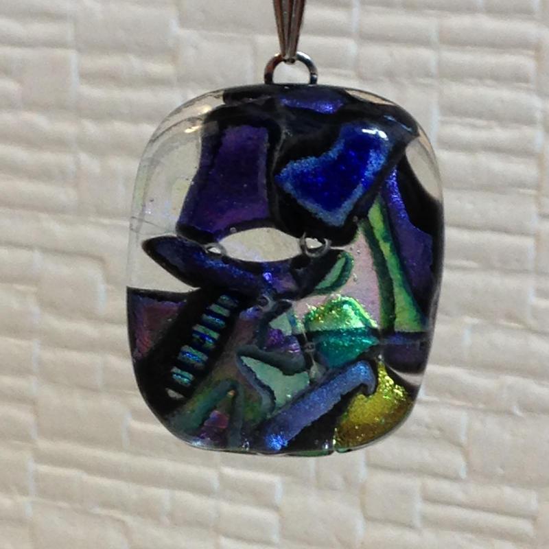 ダイクロガラス ペンダントトップ ネックレス (ダイクロガラス)G6022
