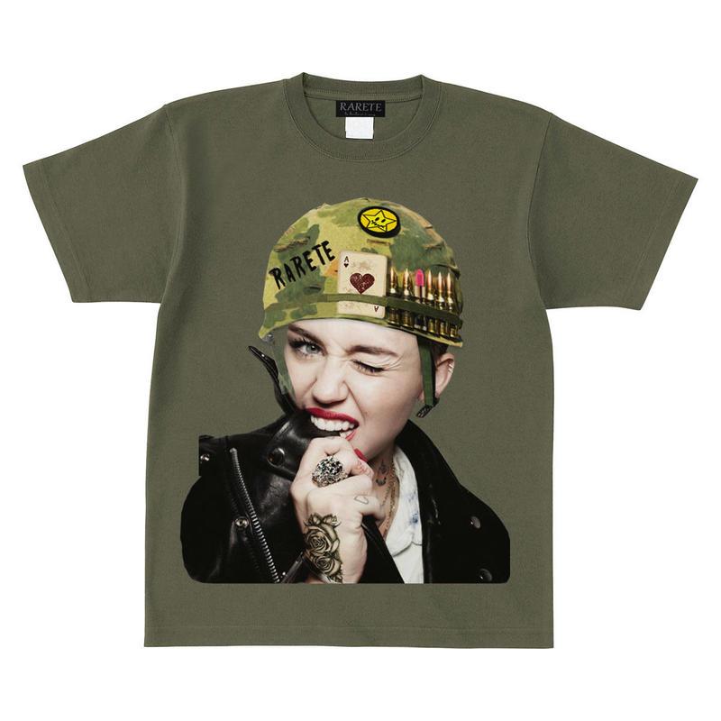 RARETE (ラルテ)  Miley combat helmet Tシャツ アーミーグリーン