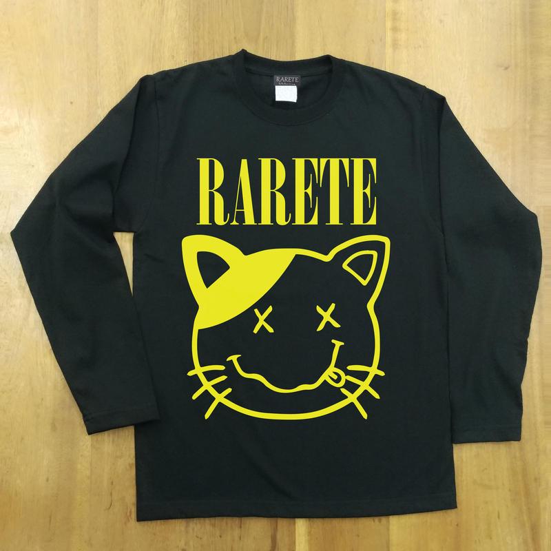 RARETE (ラルテ) cat 猫 ニルヴァーナ ブラック  長袖Tシャツ
