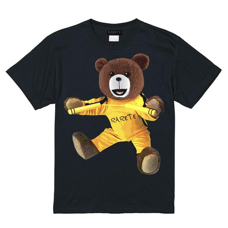 RARETE (ラルテ)    テディベア Bruce Lee  Tシャツ ブラック