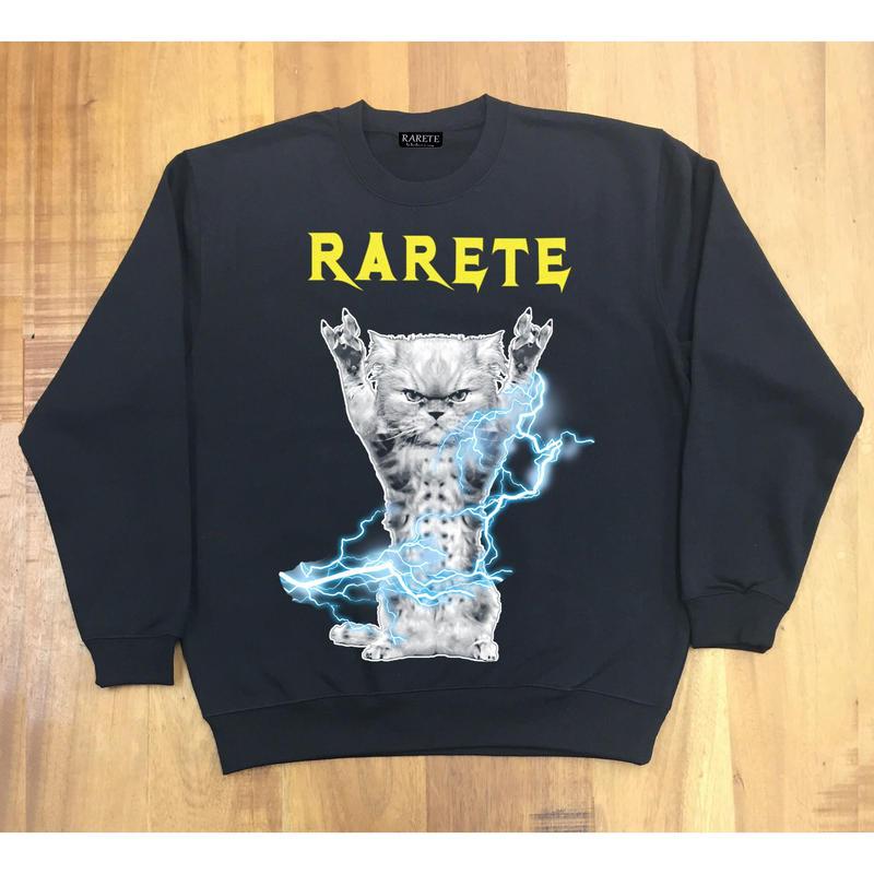 RARETE (ラルテ) CAT イナズマ 猫  ブラック  星柄 star(裏パイル)