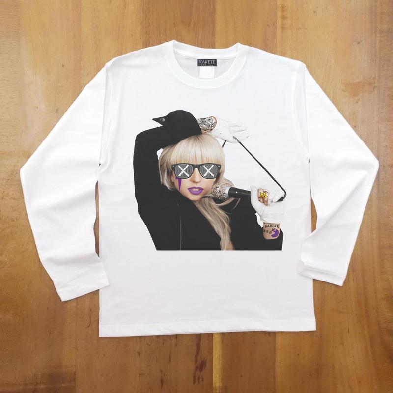 RARETE (ラルテ)  GAGA Mic Tatoo ホワイト  長袖Tシャツ