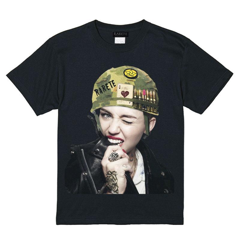 RARETE (ラルテ)  Miley combat helmet Tシャツ ブラック