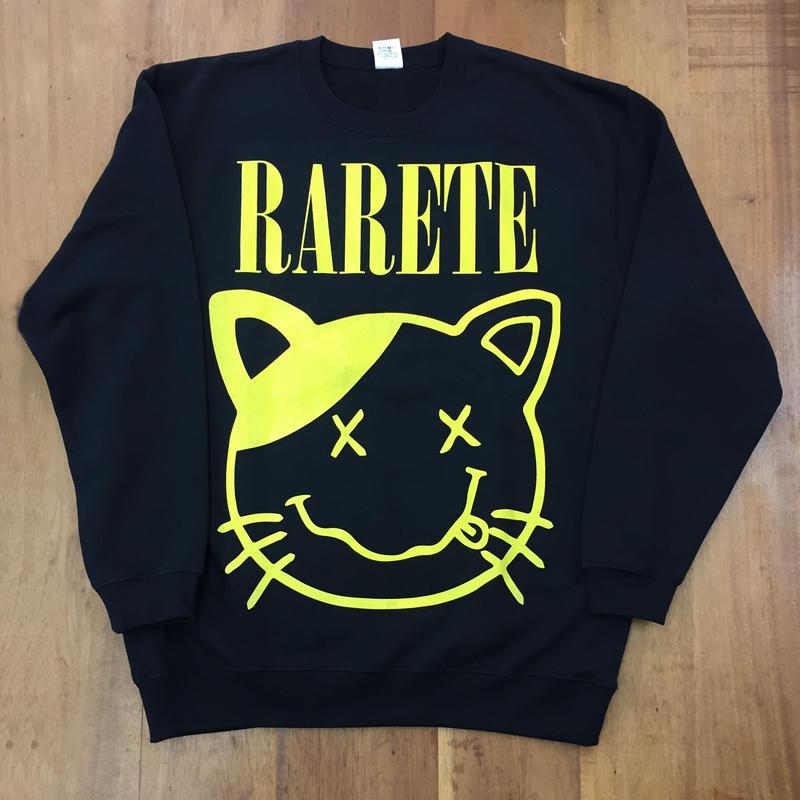RARETE (ラルテ) cat 猫  ニルヴァーナ  スエット ブラック  星柄 star(裏パイル)