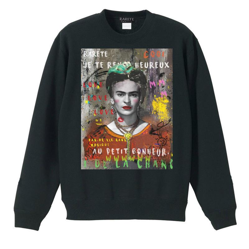 RARETE (ラルテ)  Frida Kahlo スエット ブラック 星柄 star