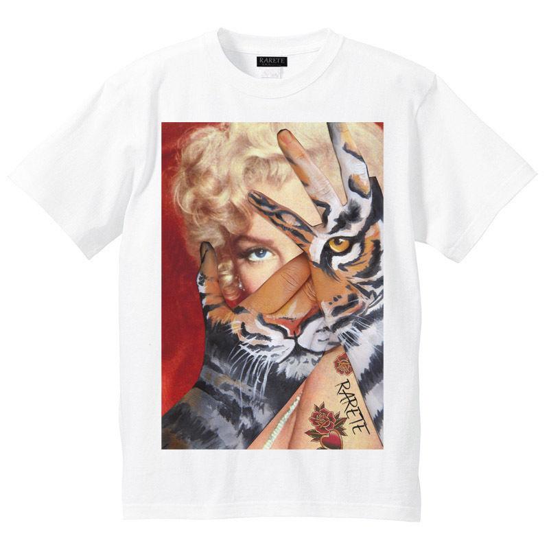 RARETE (ラルテ)    マリリンモンロー トラ Tシャツ  ホワイト