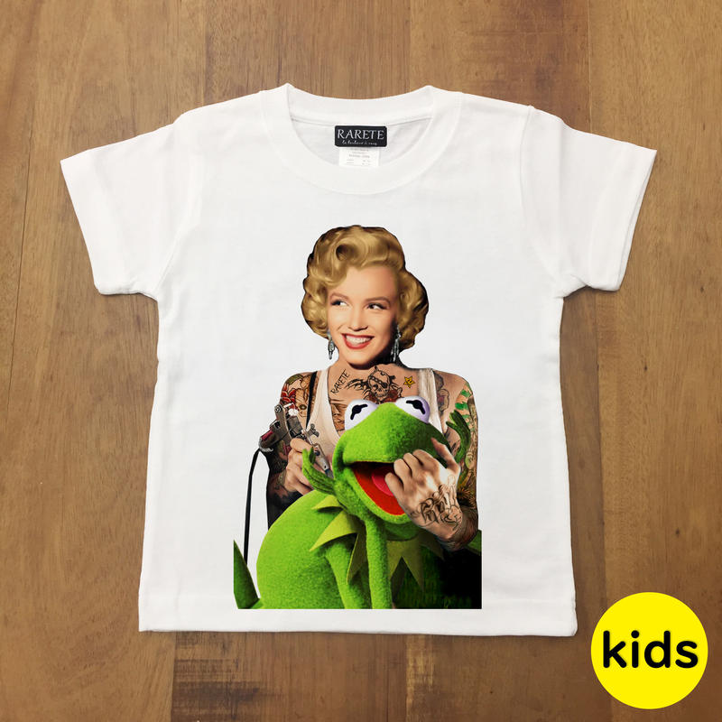 RARETE (ラルテ)  マリリンモンロー Frog Tシャツ ホワイト 星柄 star (Kids)
