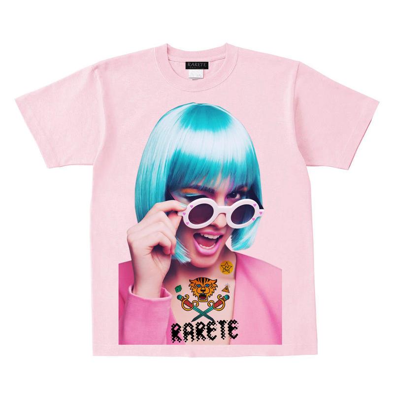 RARETE (ラルテ)   ウインク サングラス GIRL  Tシャツ ライトピンク