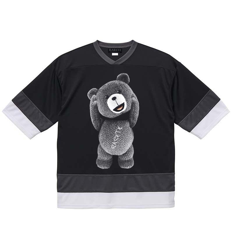 RARETE (ラルテ)  テディベア 首とれた  ブラック ホッケーシャツ