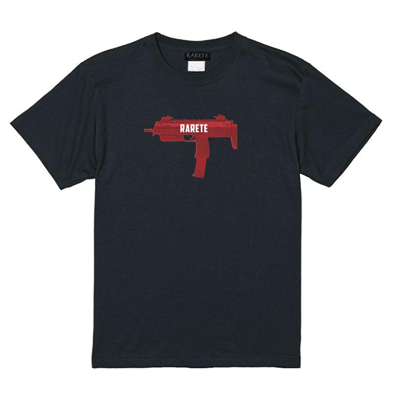 RARETE (ラルテ)    機関銃 ロゴ バックプリント Tシャツ  ブラック