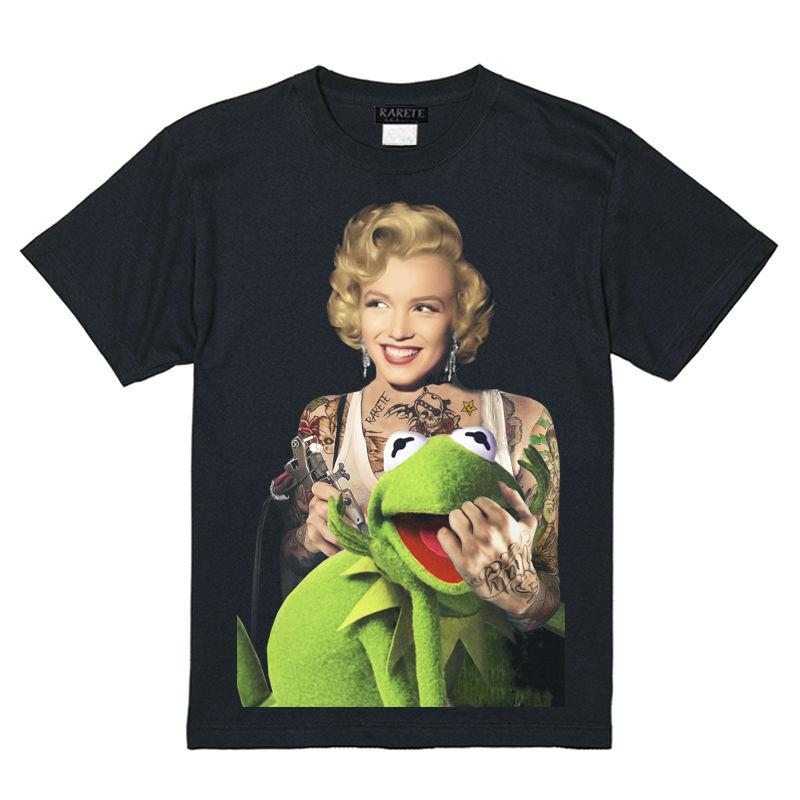 RARETE (ラルテ)   マリリンモンロー  Frog  Tシャツ  ブラック  Tシャツ