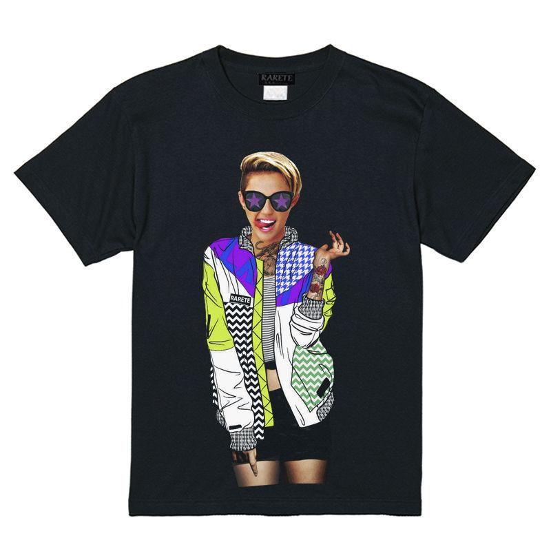RARETE (ラルテ)    Miley  カラフル ジャケット  Tシャツ  ブラック