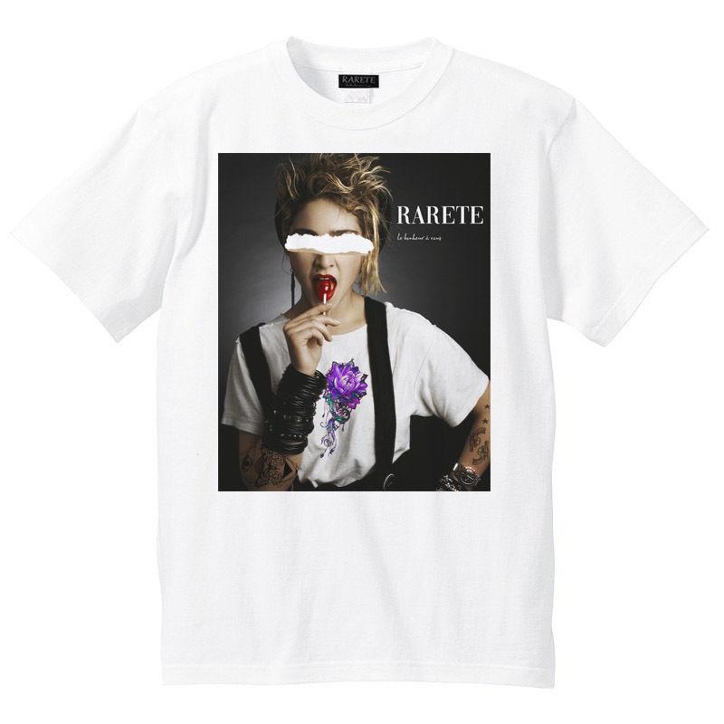RARETE (ラルテ)   md  BLACK Flower   Tシャツ  ホワイト