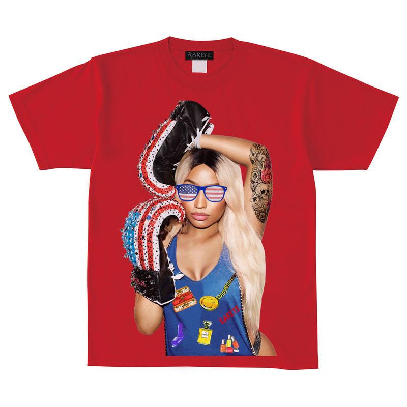 RARETE (ラルテ)    アメリカ サングラス グローブ  Girl Tシャツ  レッド