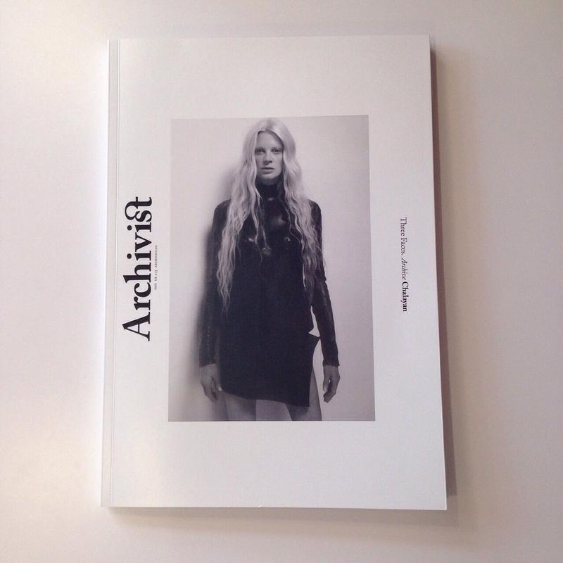 Archivist Issue One / Three Faces. Archive Chalayan