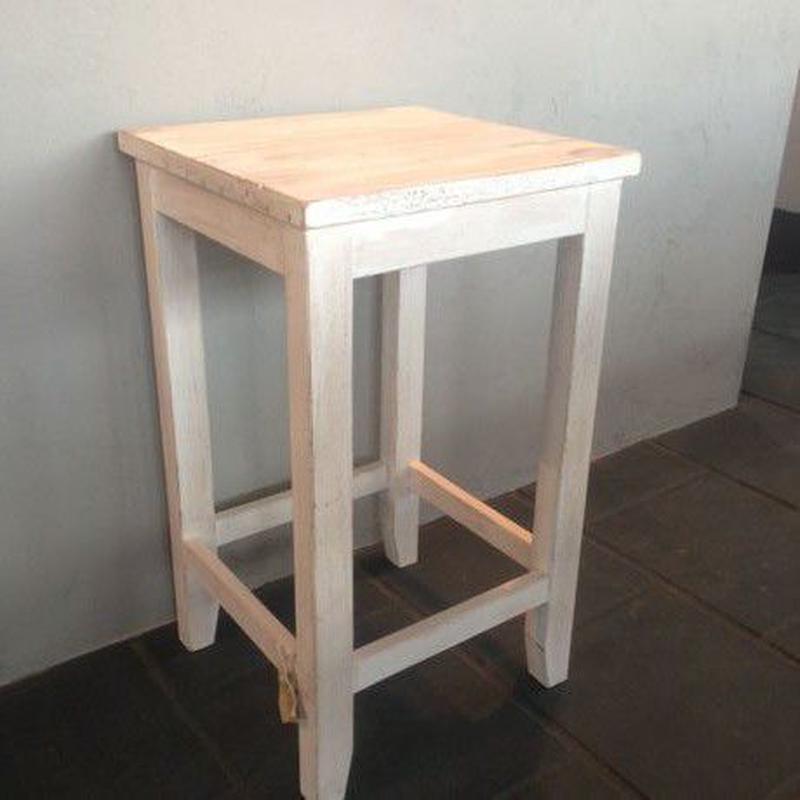 木製スツール ホワイト2