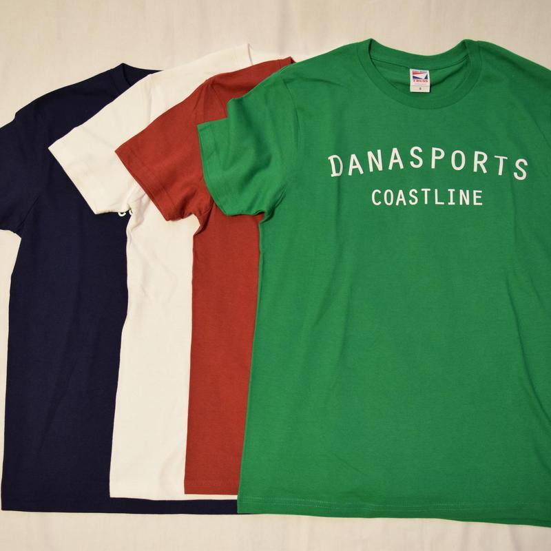 DANA SPORTS ''COAST LINE''Tシャツ  White/Navy/Burgundy/Green