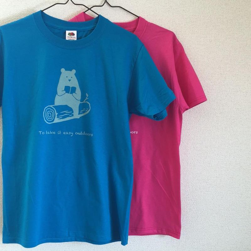 "DANA SPORTS ''book bear"" Tシャツ Pink/Turquoise"