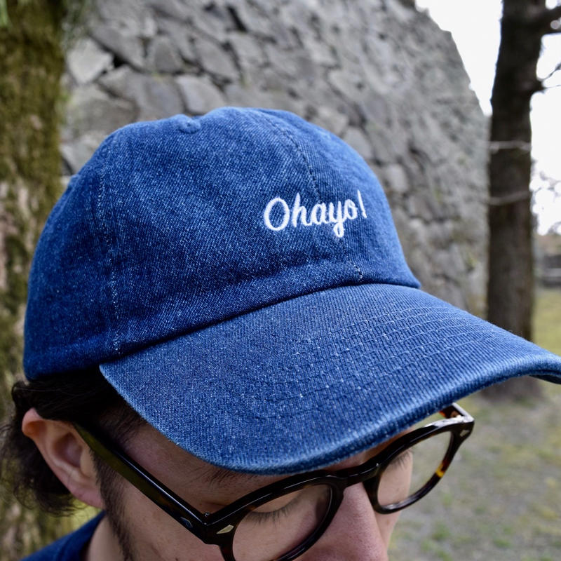 DANA SPORTS ''OHAYO!''DENIM BASEBALL CAP