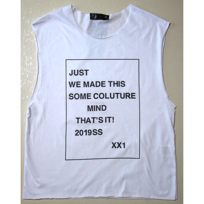 """Just21 CUT OFF TEE      """"WE MADE THIS"""""""