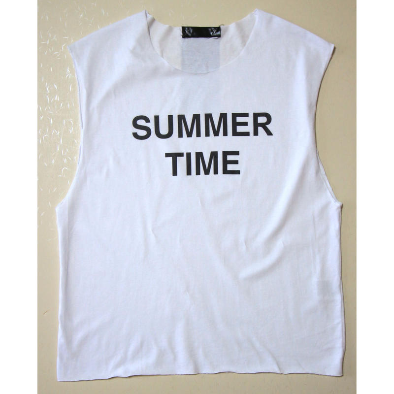 "CUT OFF TEE ""SUMMER TIME"""
