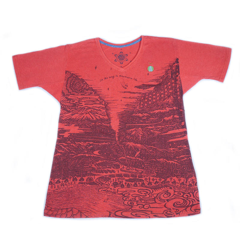 Altnative Teppo T-shirts D-Red Hemp