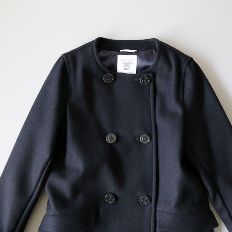 FIDELITY フィデリティ / NO COLLAR LONG PEA COAT FD16F TWM112W (レディース)