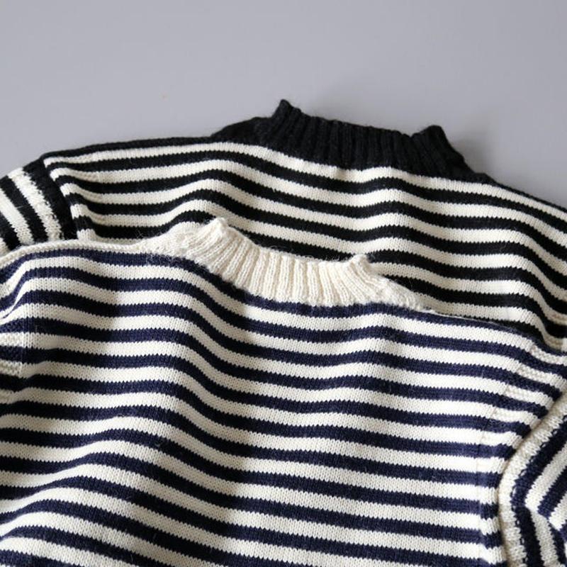 LE TRICOTEUR / ウールガンジーセーター STRIPE (ユニセックス)