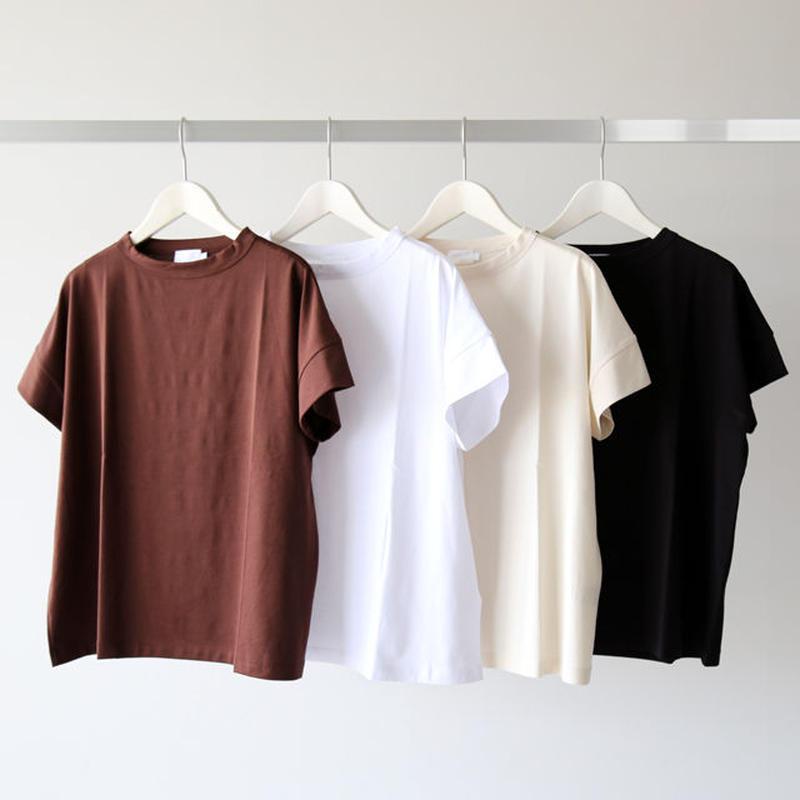 handvaerk ハンドバーク / ボトルネック半袖Tシャツ 6250 (レディース)