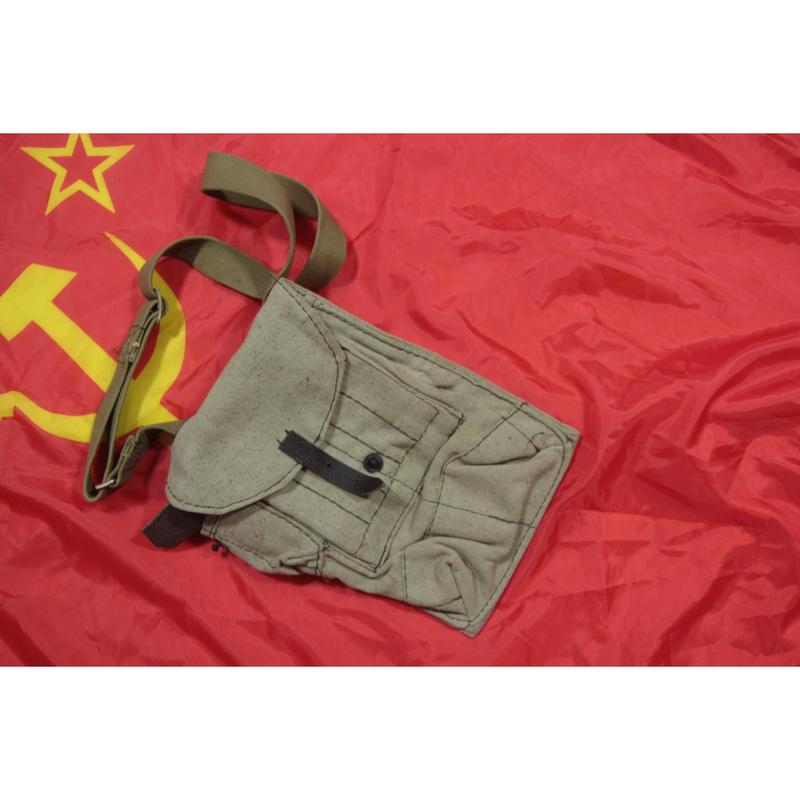 ソ連製 4室 RPK用 マガジンポーチ コットン製 ショルダーベルト付き